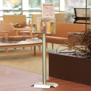 Stainless Steel Stand for Personal Protection Organizers with Signs
