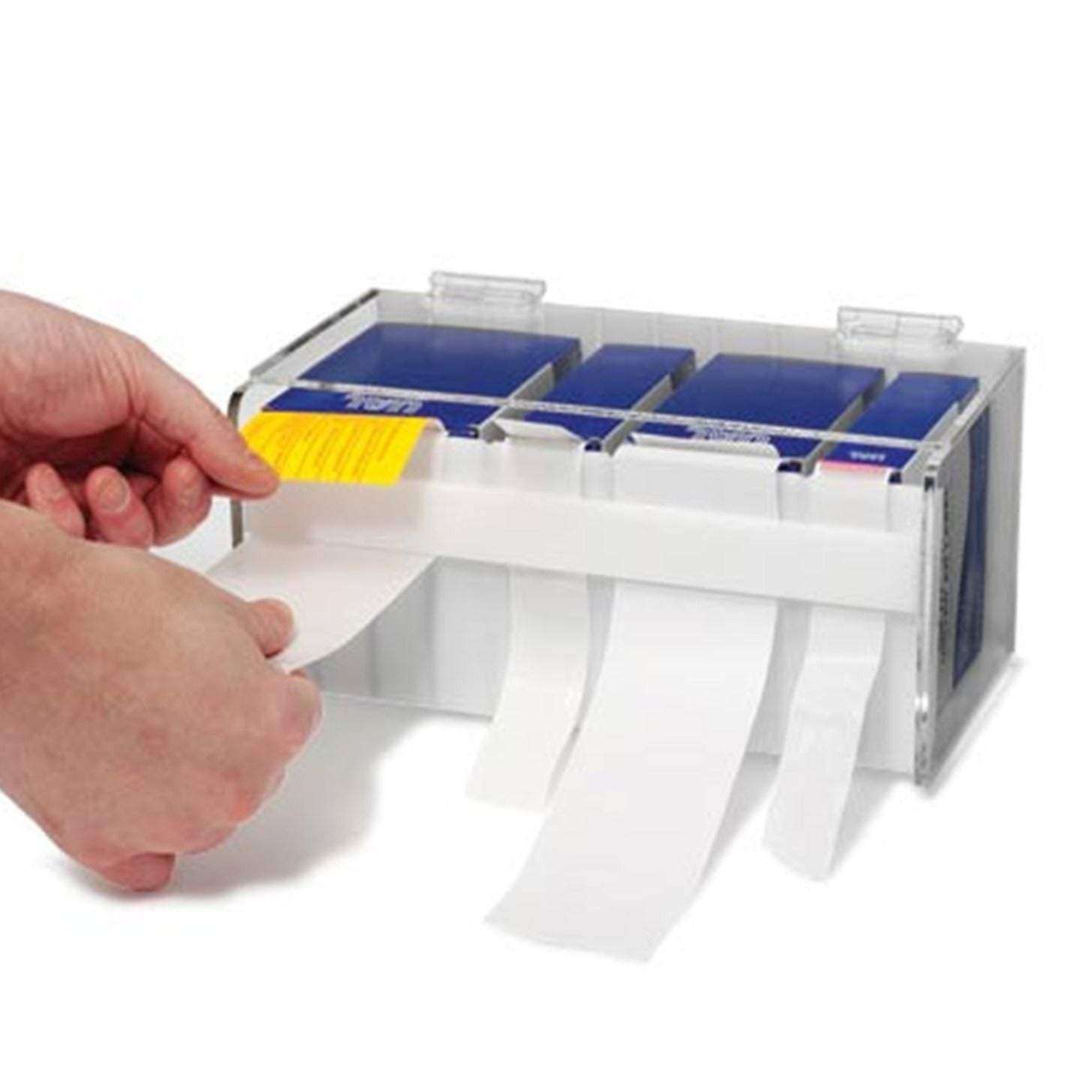 Small Label Dispenser with Slotted Front