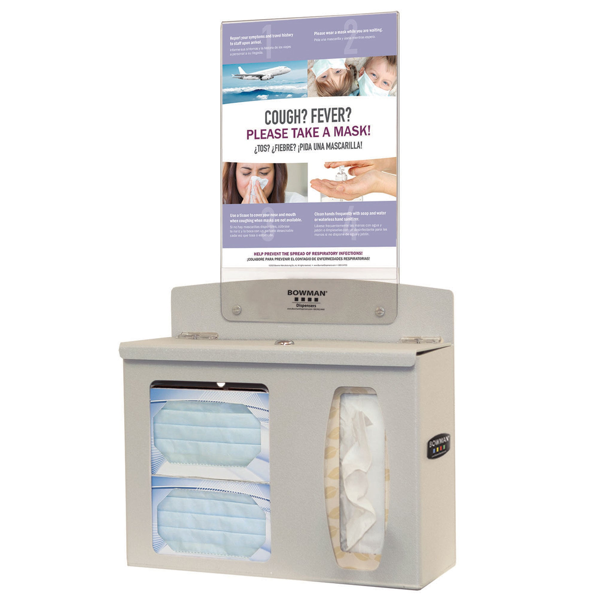 Bowman ABS Hygiene Center without Sanitizer and with Sign