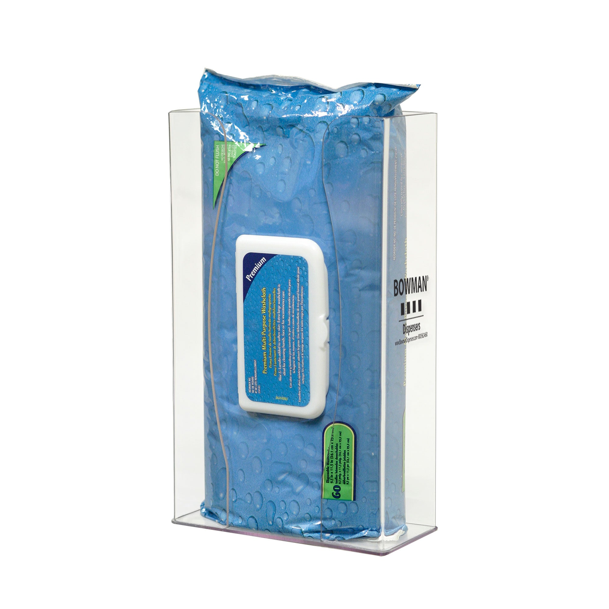 Bowman PETG Tall Thick Personal Wipe Dispenser