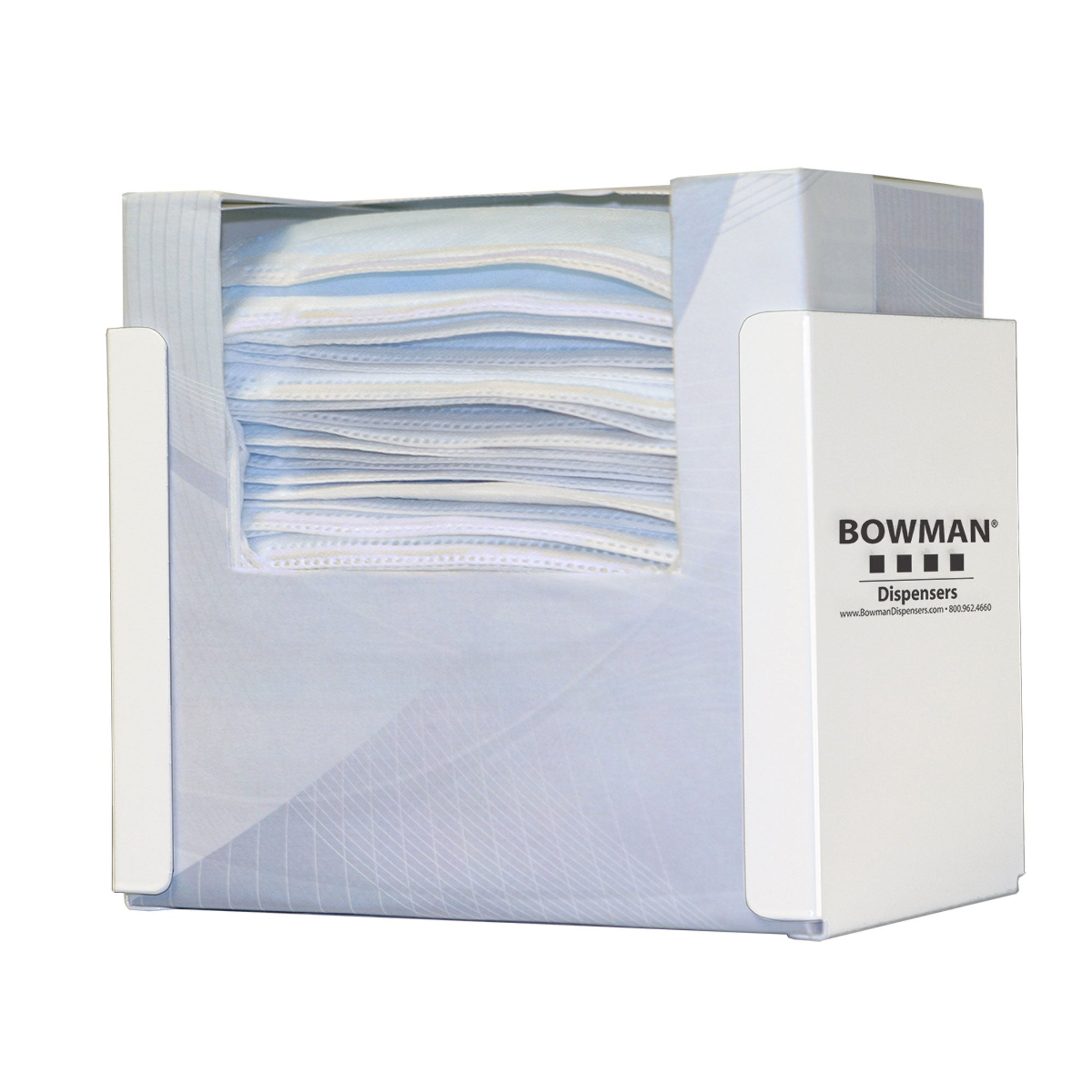 Bowman White Stainless Steel Single Mask Dispenser
