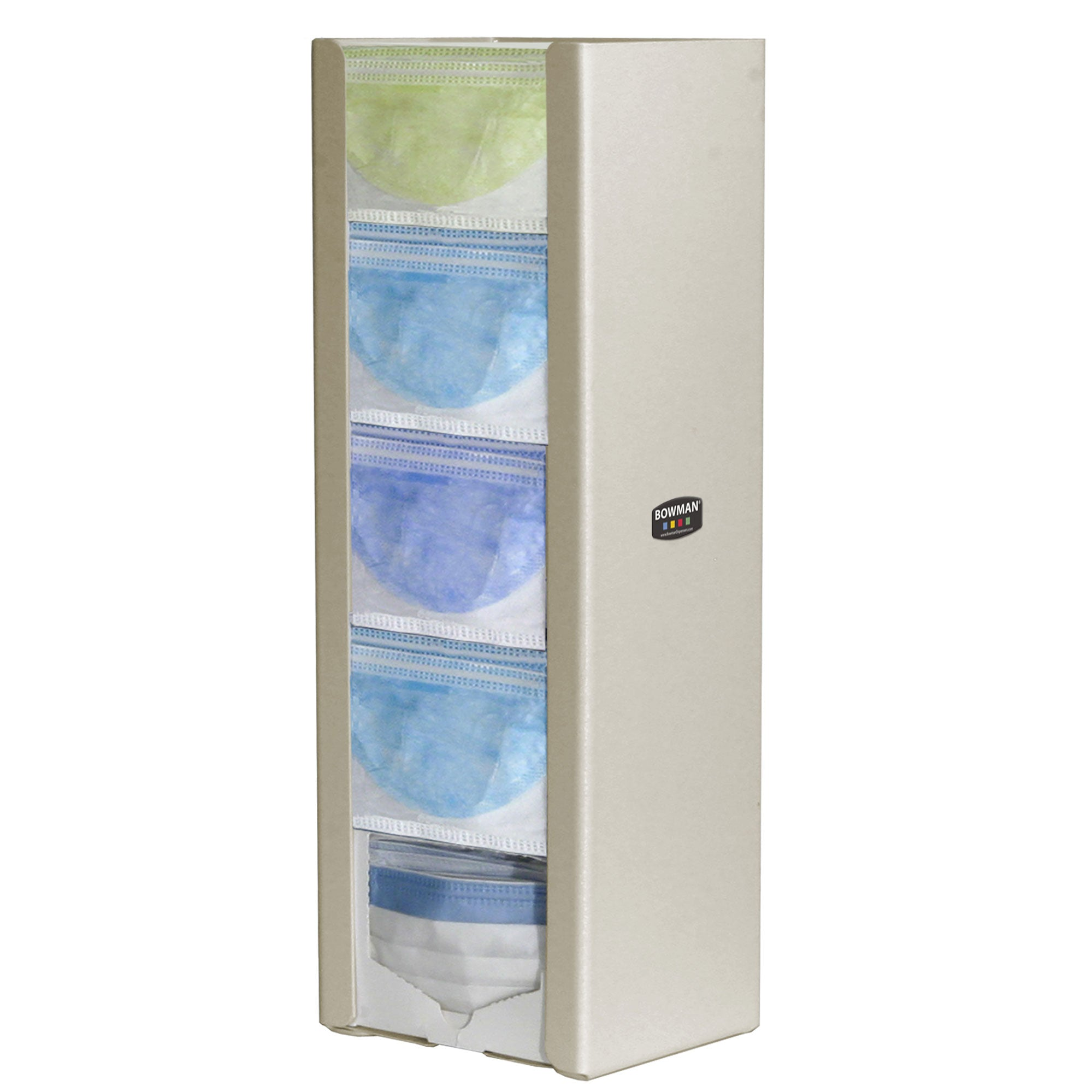 Bowman ABS Quintuple Top Dispensing Mask Dispenser