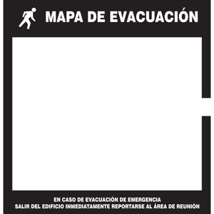Holders for Evacuation Maps