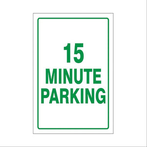 Aluminum and Plastic Parking Lot Signs