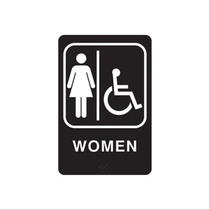 ADA and Ceiling Restroom Signs