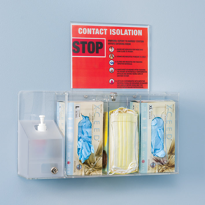 Double Locking Mini Infection Prevention Stations