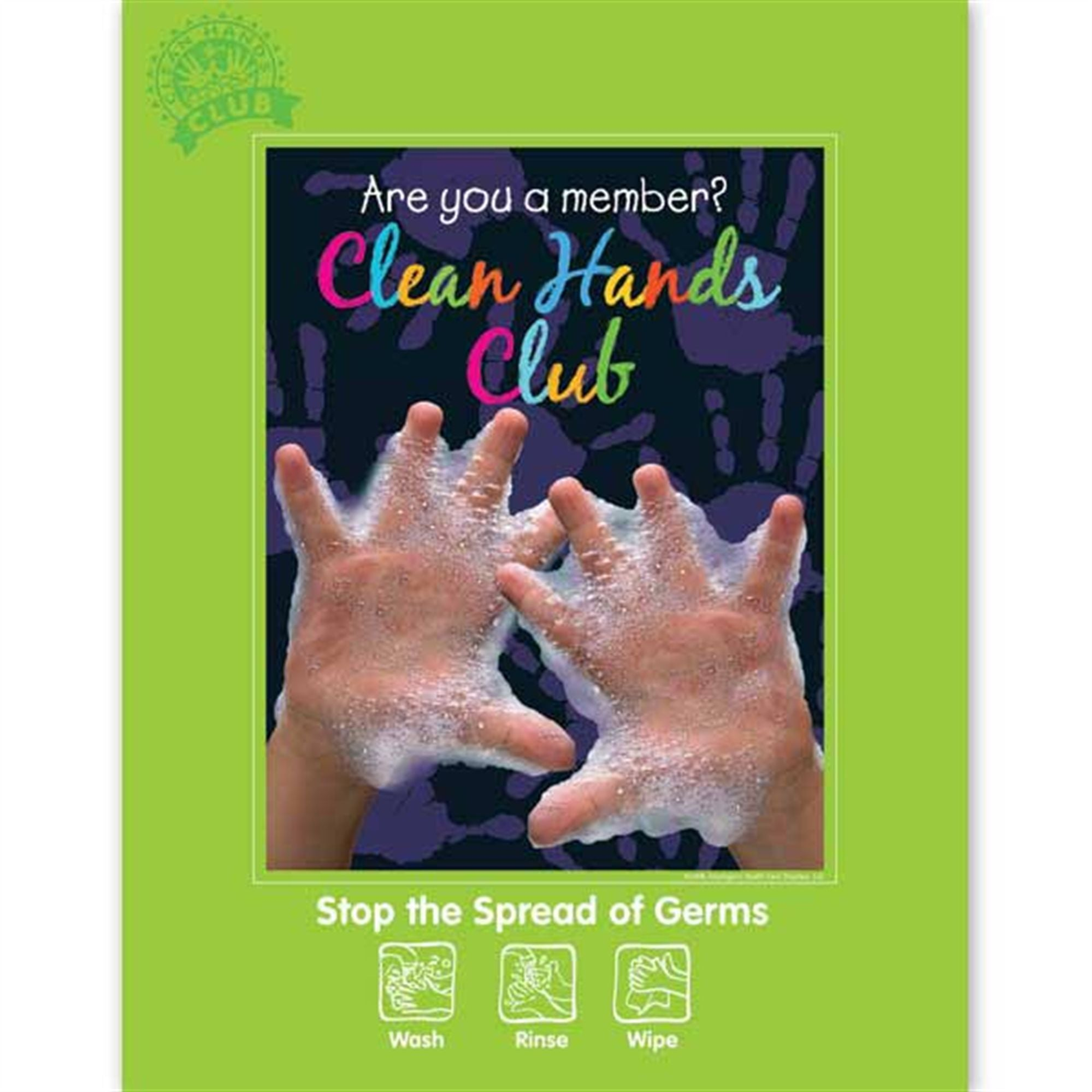 Clean Hands Club Hygiene Poster