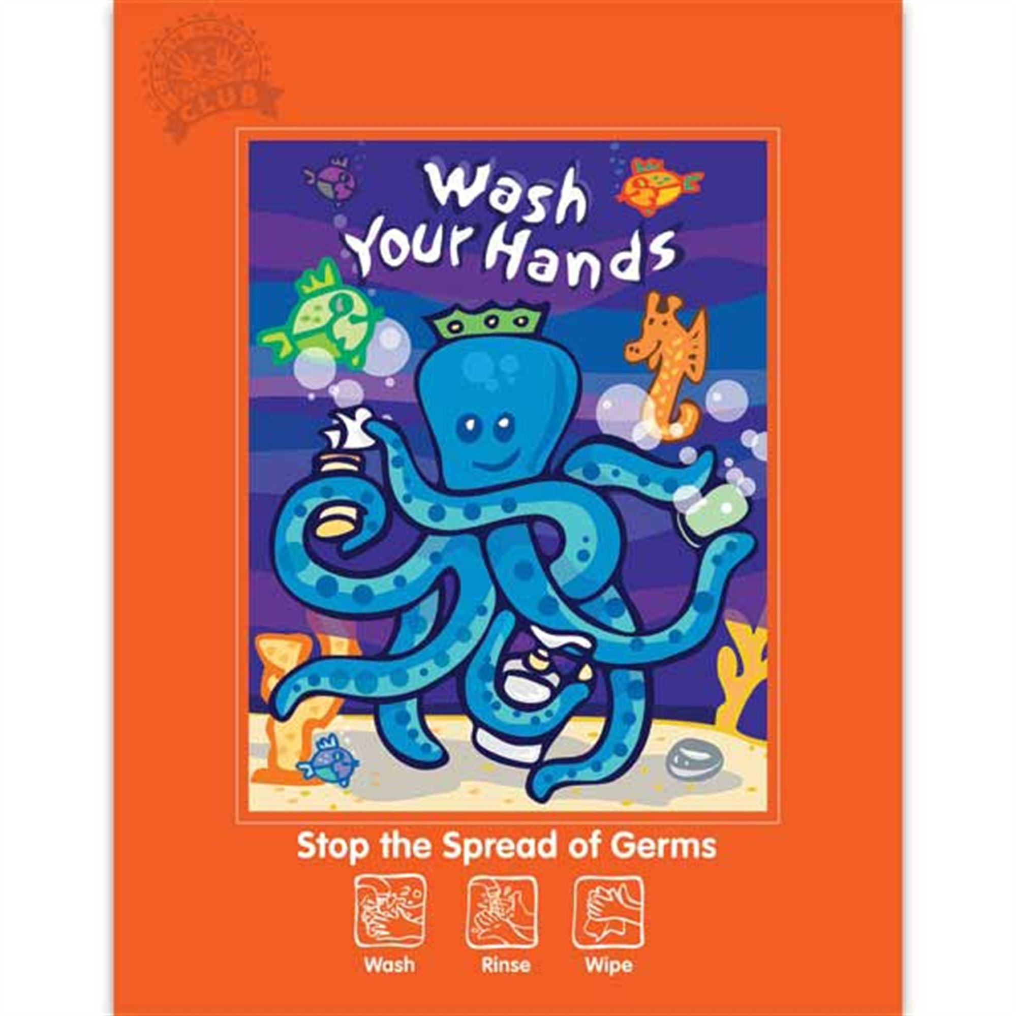 Octopus-Themed Hand Hygiene Poster