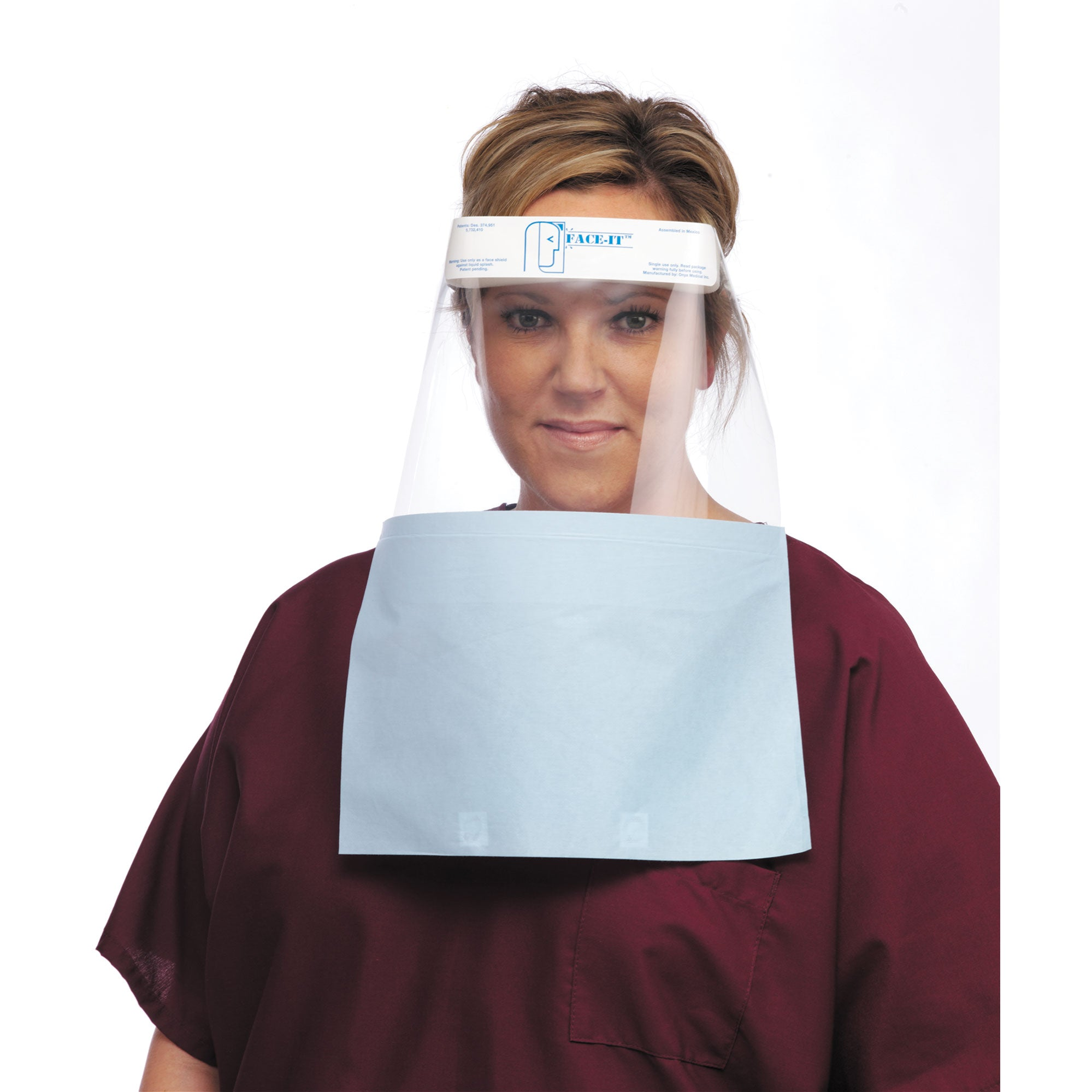 Face Shield with Drape
