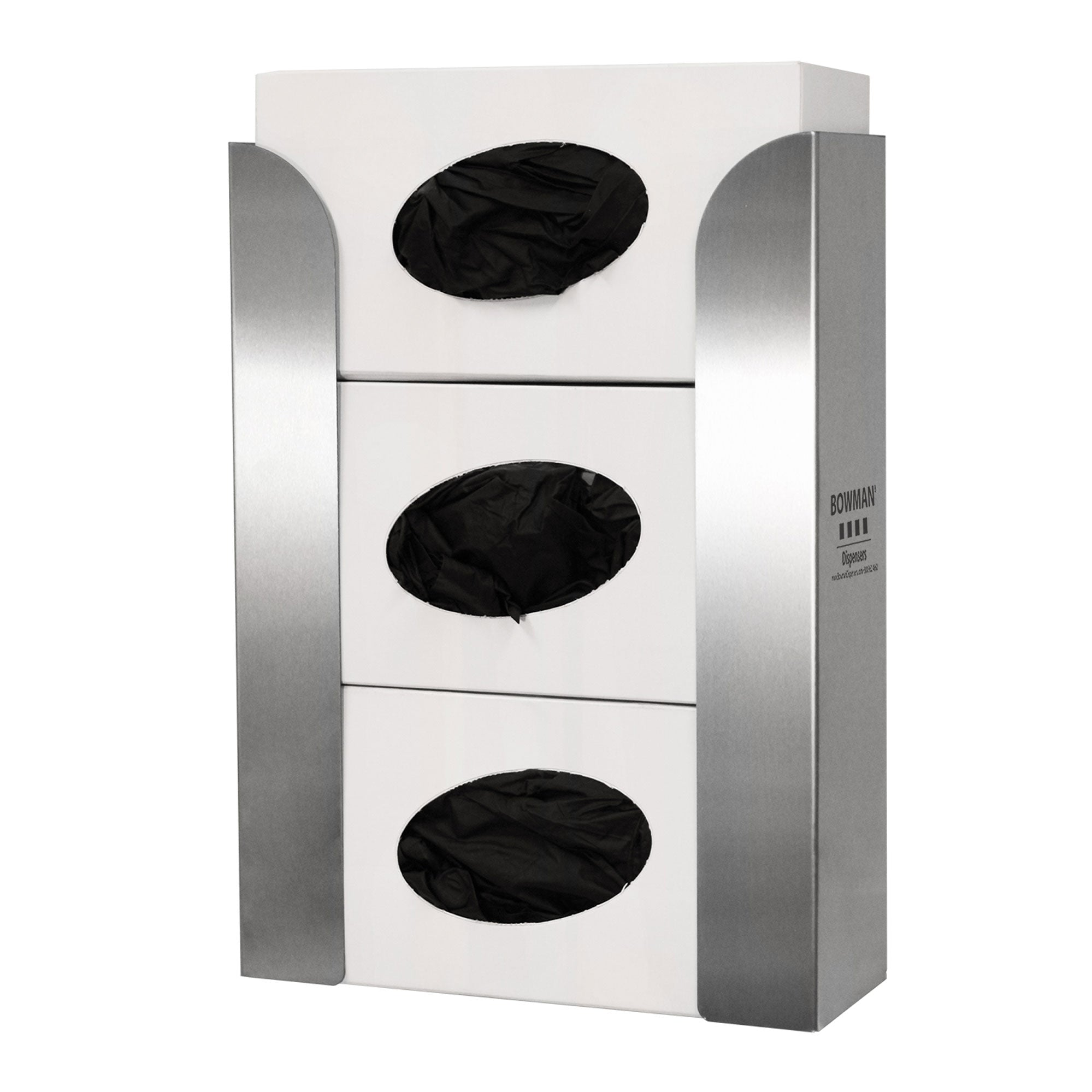 Bowman Stainless Steel Top Loading Triple Glove Box Dispenser
