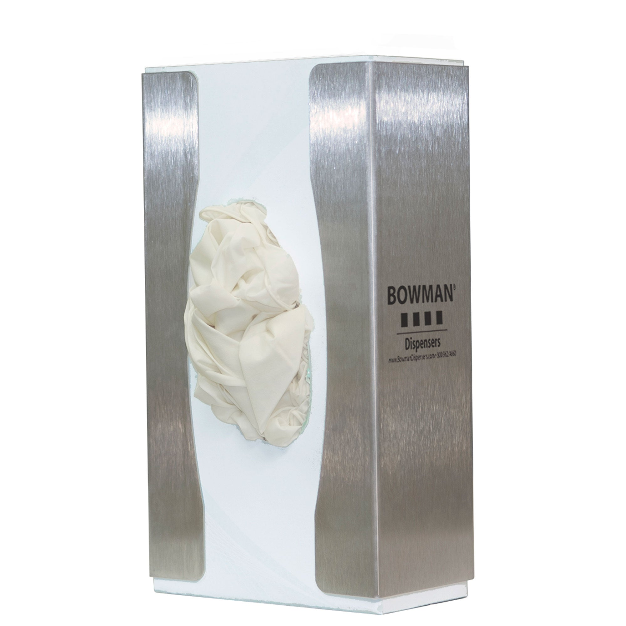 Bowman Stainless Steel Slim Single Food Service Glove Box Dispenser