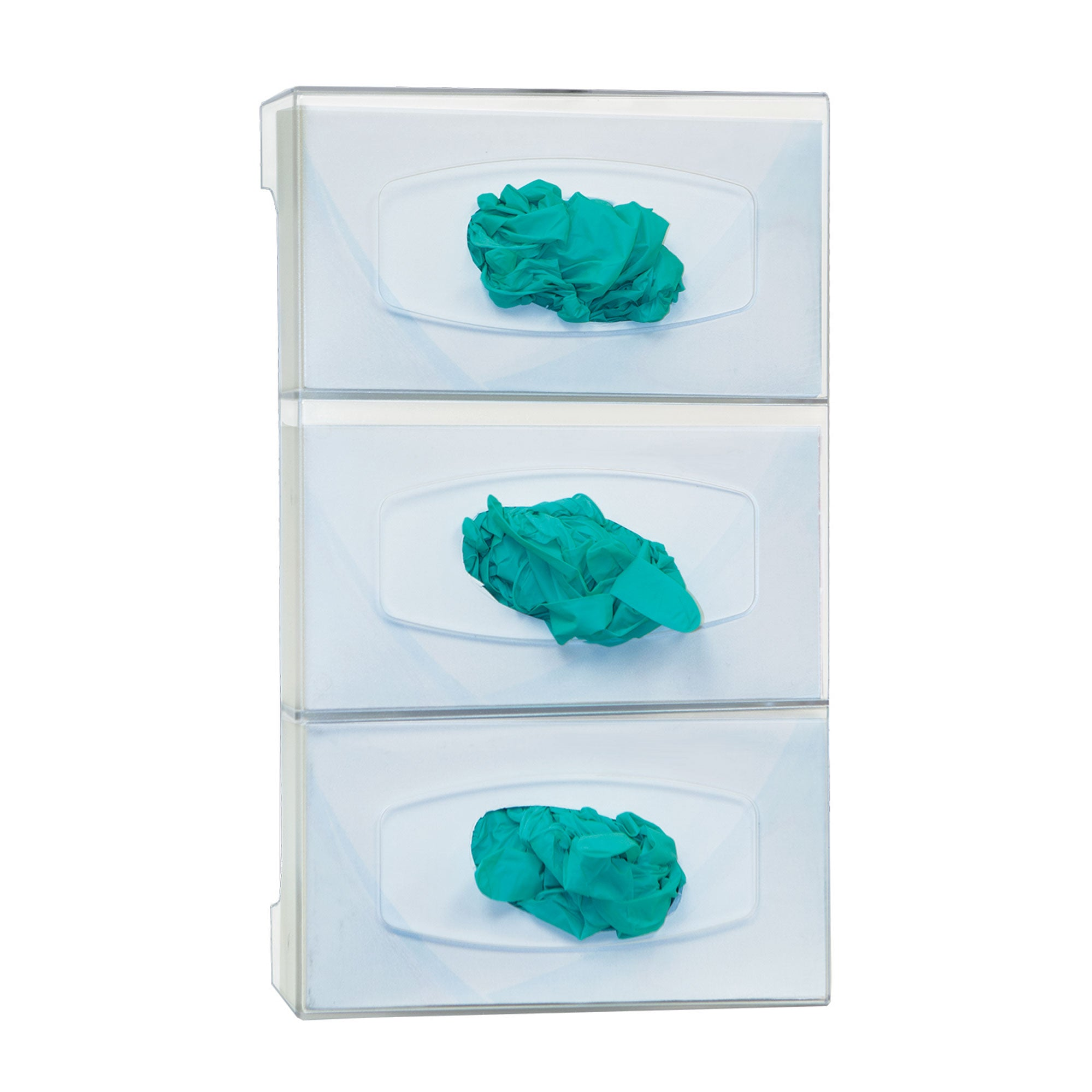 Bowman Polycarbonate Triple Glove Box Dispenser