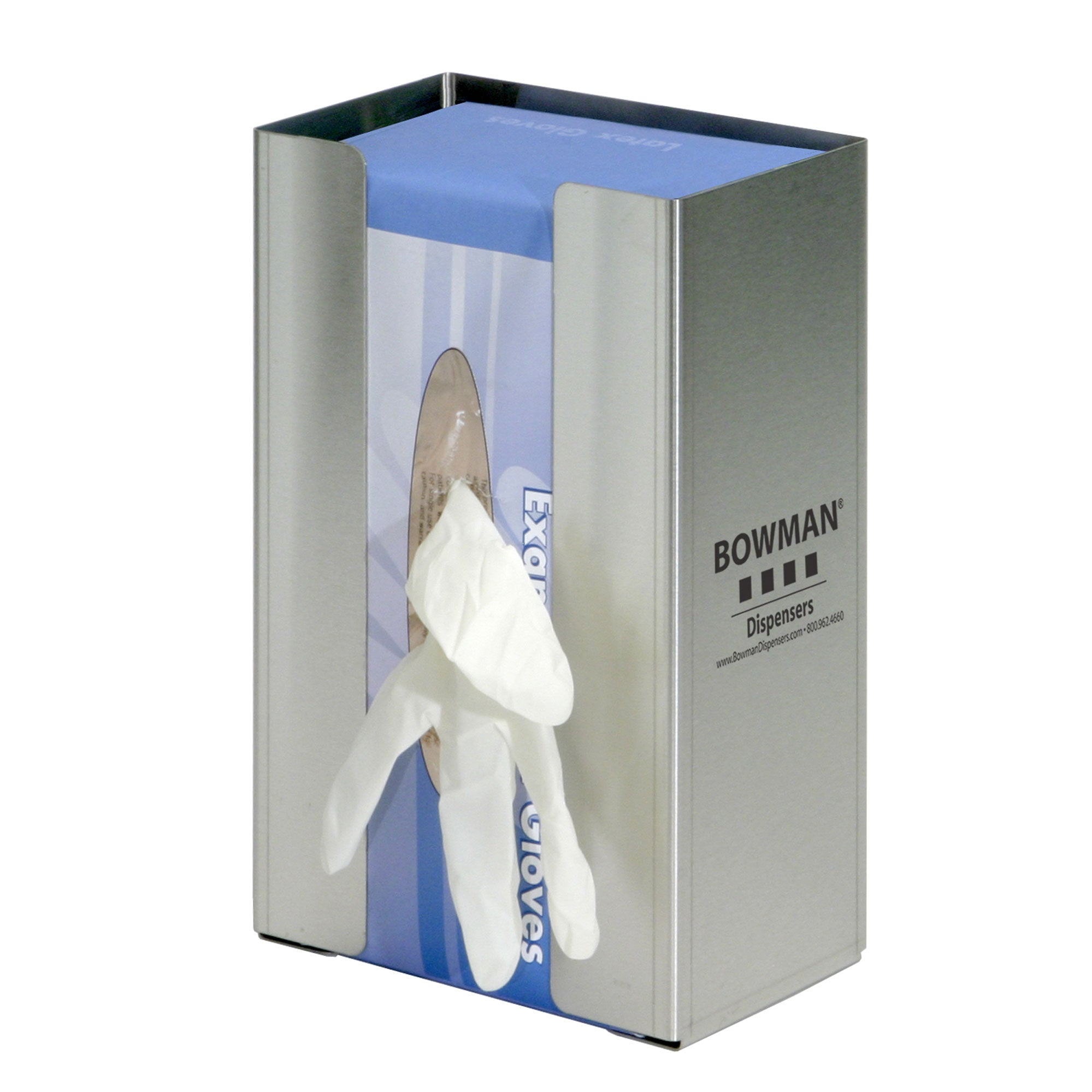 Bowman Stainless Steel Large Single Glove Box Dispenser