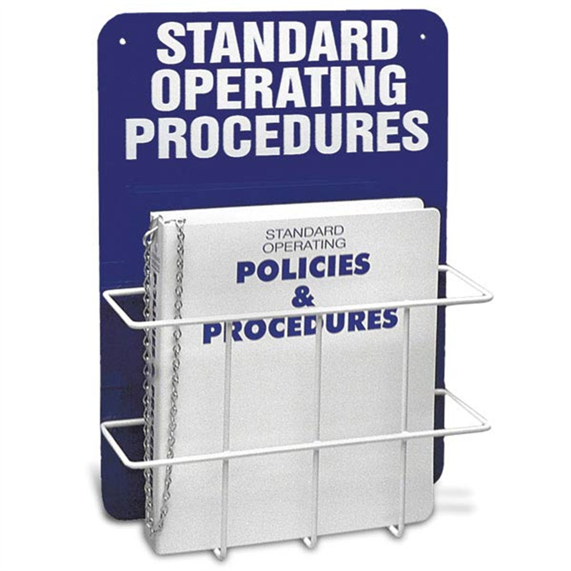 Standard Operating Procedures Binder and Holder with Wall-Mount Backboard, Single