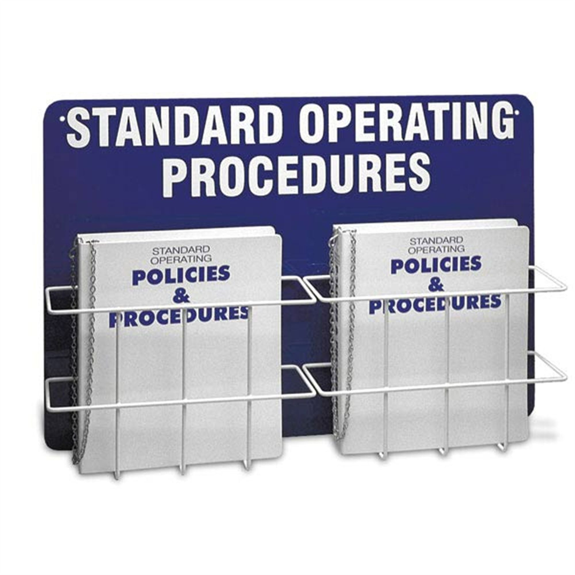Standard Operating Procedures Binder and Holder with Wall-Mount Backboard, Double