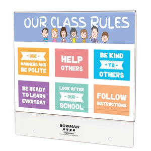 Bowman PETG Sign Holders for Hygiene Centers