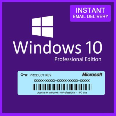 Windows 10 PRO Professional License - RETAIL DIGITAL Instant product key