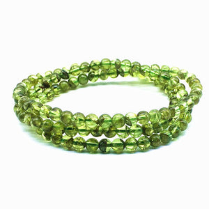 Natural Healing Peridot Stone Beads Bracelet or Necklace 4mm or 5mm