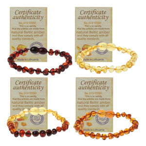 Genuine Healing Baltic Amber Teething Baby Bracelet 4 Colors