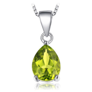 Authentic Healing Amethyst Citrine Garnet Peridot Topaz on 925 Sterling Silver Pendant