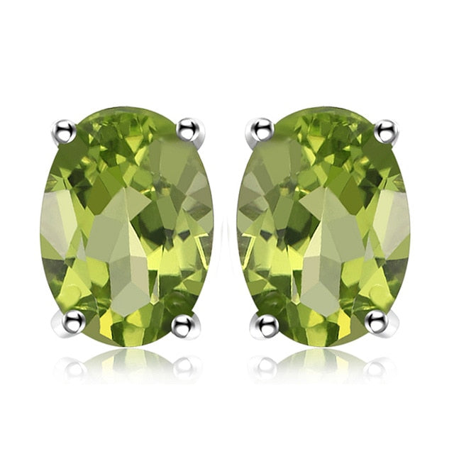 Genuine Healing Amethyst Garnet Peridot Topaz Citrine on 925 Sterling Silver Earrings
