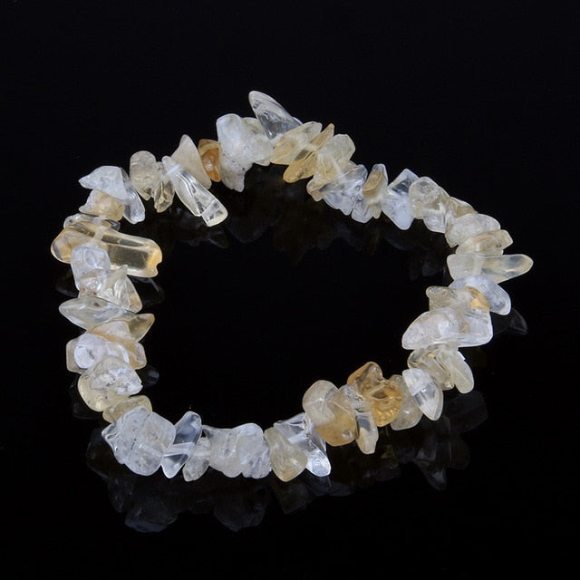 Natural Healing Stone Raw Beads Bracelet 12 Varieties