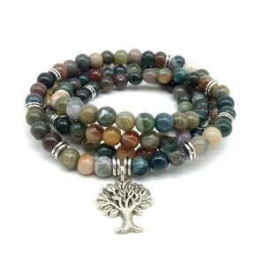 Genuine Healing Stone Beads Bracelet / Necklace 17 Varieties with Charm