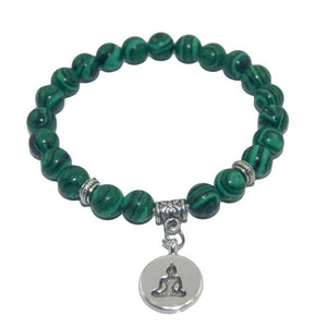 8mm Natural Healing Stones Beads Bracelet with Buddha Charm