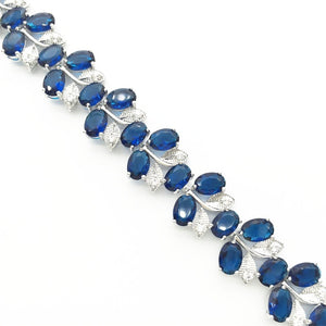 Real Healing Cubic Zirconia Gems on Silver Plated Bracelet