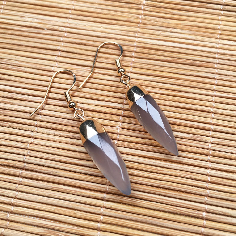 Classy Looking Genuine Healing Agate Stone Earrings