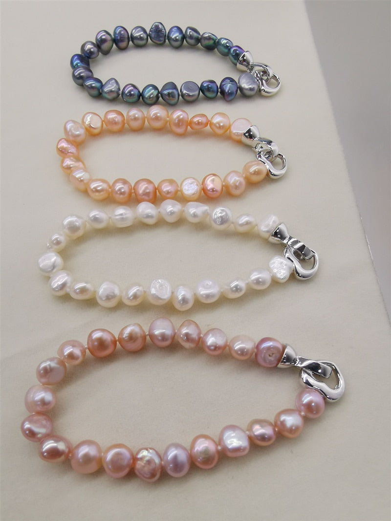 Natural Healing Freshwater Pearl Bracelet 4 color Varieties