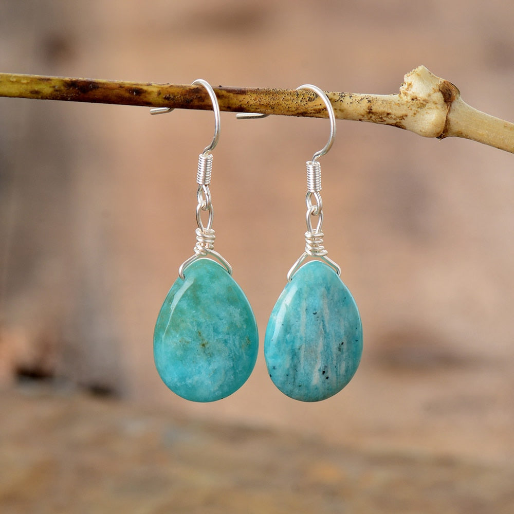 Genuine Healing Amazonite Earrings