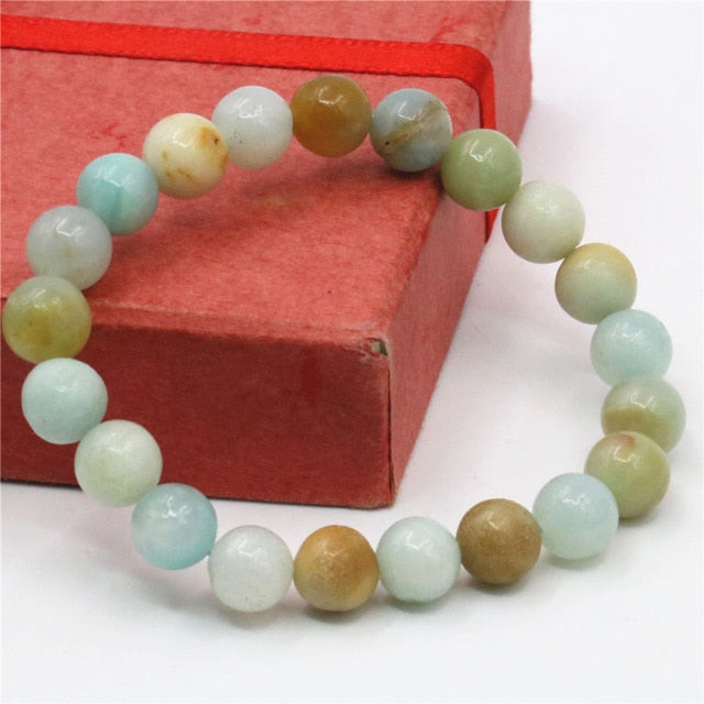 Natural Healing Amazonite Jewelry Set 36inch Necklace 7.5inch Bracelet