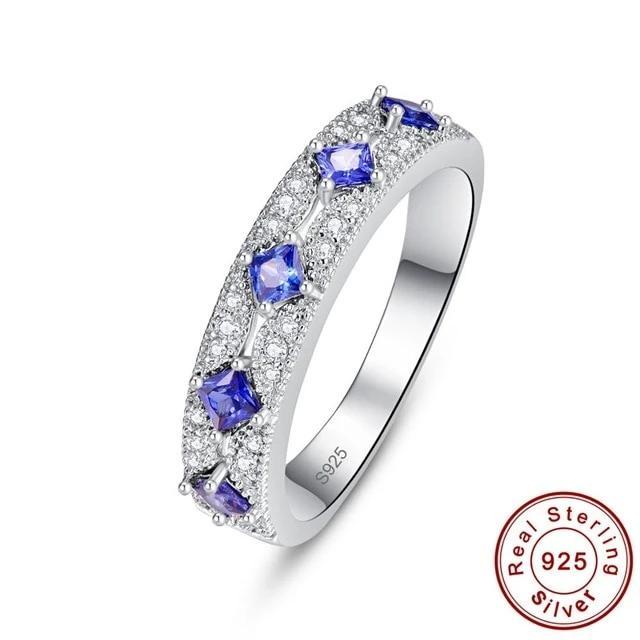 Authentic Healing Tanzanite or Ruby on 925 Sterling Silver Ring