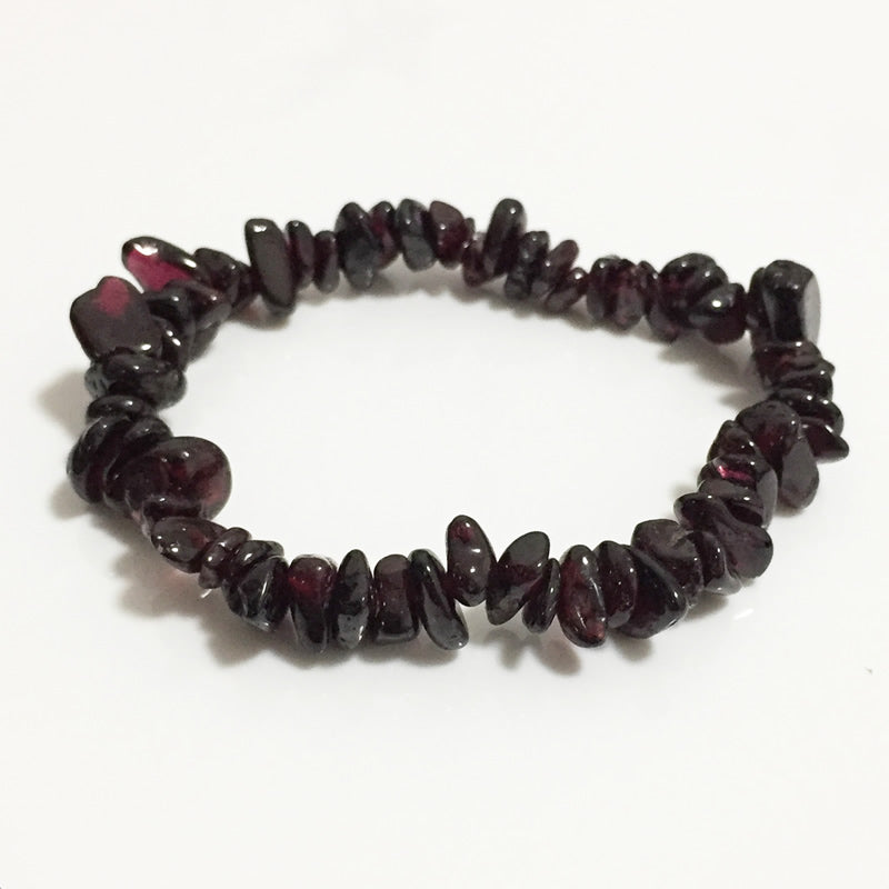 Raw Chip Beads Natural Healing Garnet Stone Bracelet