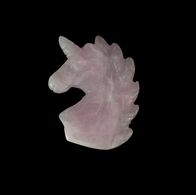 Natural Healing Stones Carved Unicorn Figurine / Statue Many Stones Varieties