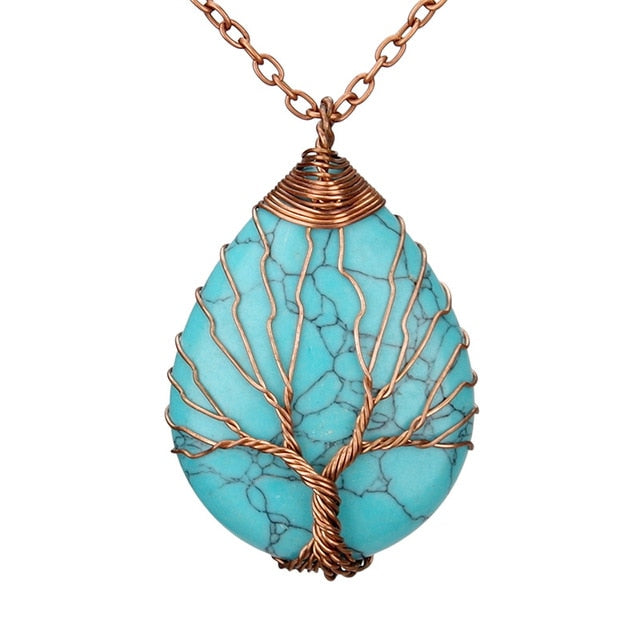 Authentic Healing Stones Tree of Life Necklace Pendant 26 Varieties
