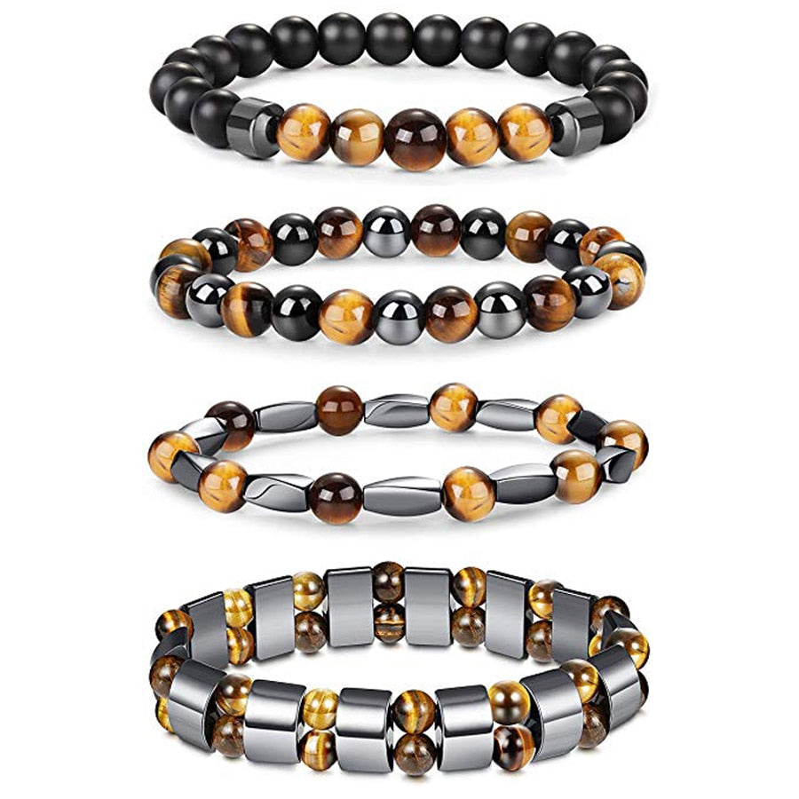 Natural Healing Stones Tiger Eye Hematite Magnetic Weight Loss Help