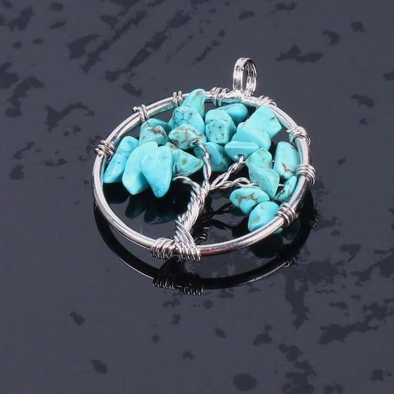 19 Varieties Real Healing Stones Tree of Life Necklace Pendant