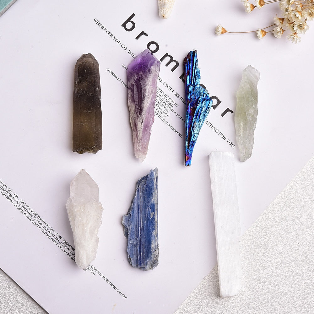 7pcs Set Natural Healing Stones Crystals with Gift Box