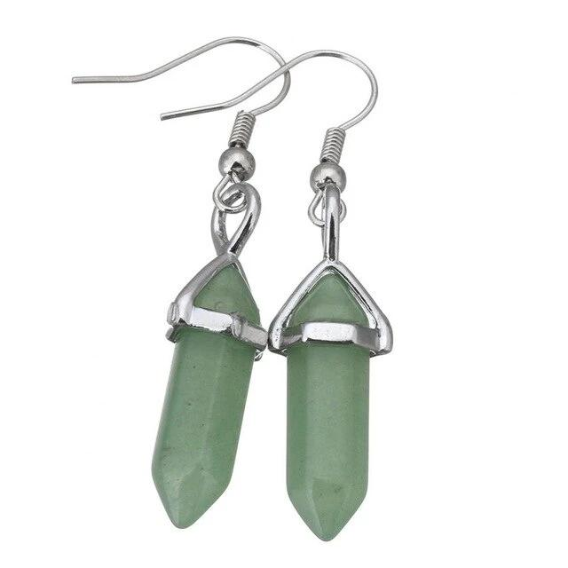 Genuine Healing Reiki Stone Drop Earrings