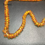 Genuine Healing Baltic Amber Adult Necklace Square Beads