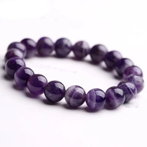 Authentic Healing Amethyst Beads Bracelet 6 / 8 / 10 / 12mm