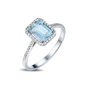 1.65ct Authentic Healing Aquamarine with Genuine Diamonds on 14k Solid Gold Ring