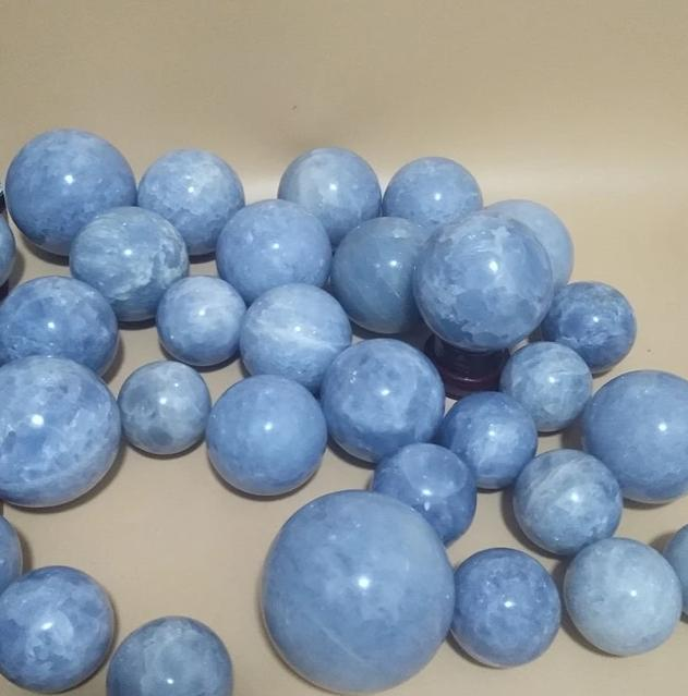 50-100mm Genuine Healing Celestine Stone Ball