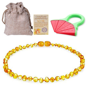 Genuine Healing Baltic Amber Teething Bracelet or Necklace 5 Colors