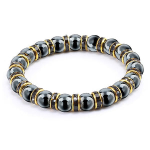 Genuine Healing Hematite and Rhinestones Bracelet Weight Loss Help
