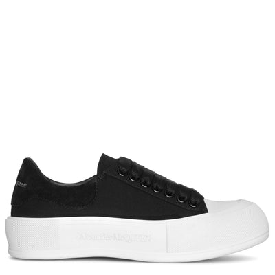 Deck Plimsoll black canvas