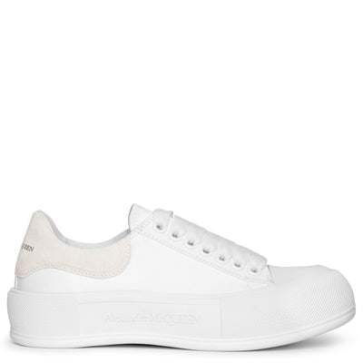 Deck Plimsoll white canvas