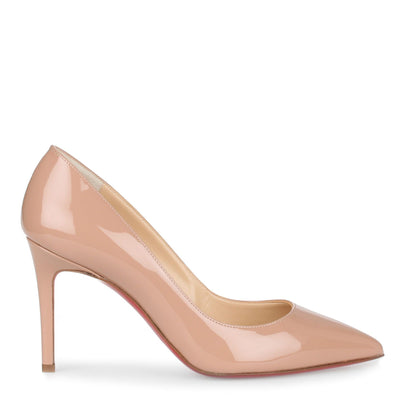 Pigalle 85 nude patent pump